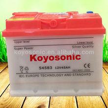 Newest Exide 12v 45ah dry car battery