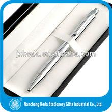 Bright Silver Pen w/ European click perfect silver pens