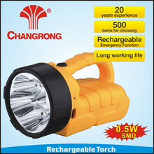 12V most powerful led rechargeable flashlight