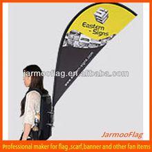 advertising wearable teardrop backpack banner