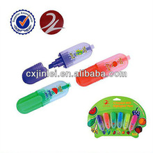 Mini Highlighter paint marker pen with 6pcs blister card pack