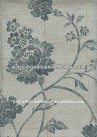 eco-friendly floral leaves natural wallpaper/glitter wallpaper modern kitchen wallpaper aime le papier peint