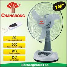 "CR-8807B rechargeable emergency 18"" LED light table desk fan CE/RoHS/UL/SASO/PSE"