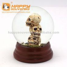 Halloween decoration skulls design snow globe