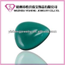Flat back Drop Shape Impeial Green Jade Rough