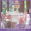 TC046Q wholesale luxury petal taffeta banquet pink elegant wedding table linens