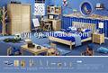 chaude design pour enfants en bois massif chambre à coucher ms103