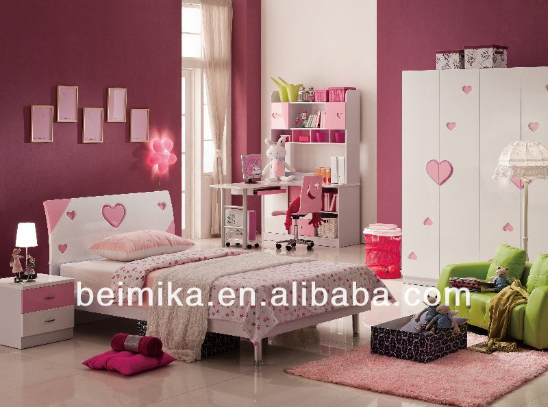 Kids Bedroom Furniture Set Cheap Girls Bed Bedroom Set Of Glossy Style