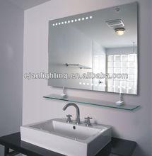 Bathroom Sensor LED Illuminated Mirror with Glass Shelf