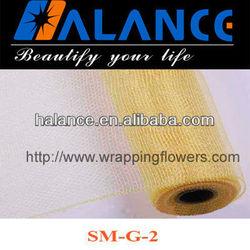 Orange Floral Mesh Wraps Solid Color (SM-G-2)