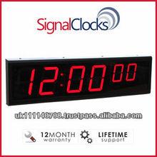 SignalClocks 6 Digit - Network Clock, POE Clock, Digital Wall Clock