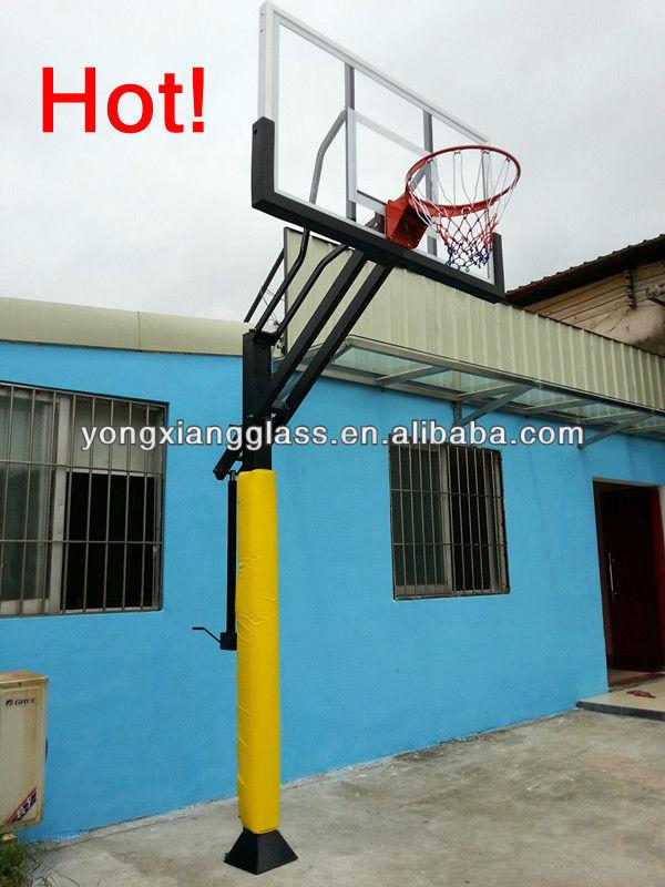 Adjustable basketball pole