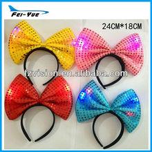 2013 Hotsale New Party Flashing Headband Led bow