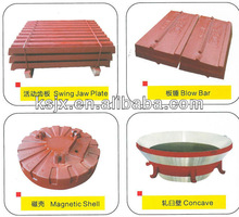 Supply high quality jaw plates,Long Lifetime Manganese Steel Jaw Plates For Jaw Crusher