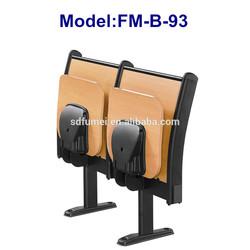 FM-B-89 Student metal leg wood top school desk with folding chair