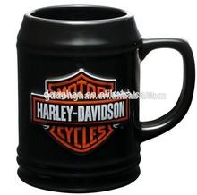 custom design fine small porcelain small beer mugs no handle,