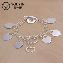 Lekani hanging heart charm infant silver jewelry