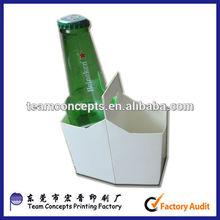 2 Packed Beer&Wine Bottles Packaging Cardboard Carrier