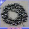 LP-00088 Alibaba China hot black rice shaped freshwater chunky pearls