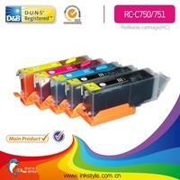 Inkstyle pgi-750 cli-751 ink cartridges for canon mg5470/mg6370/ip7270/mx727/mx927