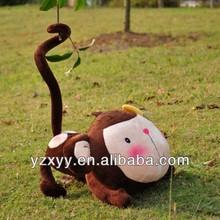 OEM soft long tail monkey,plush monkey cute toy