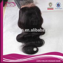 Wholesale Cheap Stock Brazilian Human Virgin Hair 3 Part Silk Base Lace Closure