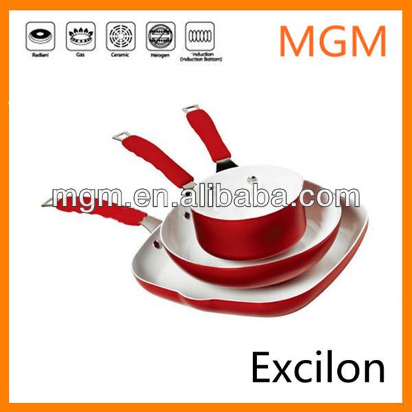 2014 Bella Dots 3pcs ceramic cookware with metallic paint