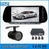 7 inch Rearview mirror parking sensor with night vision Camera
