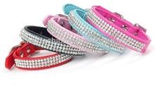 rhinestone/ pet leashes/pet tap PU dog collar