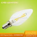 de vidrio transparente vela nuevo grado 360 3w c35 filamento sharp led de la lámpara