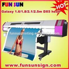 Big discount ! Galaxy 1.6m /1.8m/2.1m/2.5m /3.2m Epson dx5 head eco solvent printer (1440dpi ,best quality )