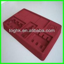 Electronics pack tray, Designed Vacuum Flocked Tray