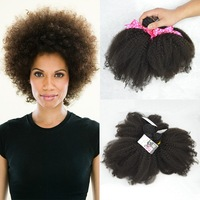 Isabel hair 6A afro kinky human hair extensions,virgin brazilian afro kinky curly hair extensions