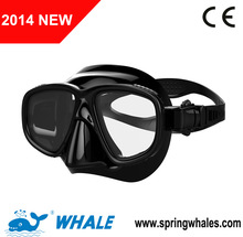 Professional scuba diving mask with high quality liquid silicone