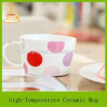 circle designs custom ceramic coffee mug with handle/porcelain mug