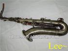 Woodwind musical instrument antique gold finish Bb brass professional tenor saxophone--443G