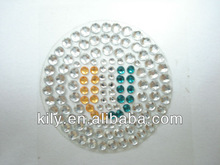 acrylic rhinestone gem stickers mobile phone acryl sticker