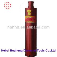 """76mm 1-1/4"""" 450mm longth premium China vacuum brazed thin wall diamond tools turbo segement wet diamond core drill bit"""
