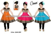 Diwali Special Beautiful Designer Girls Anarkali dress