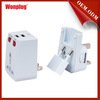 Wonplug patent product 5V/2.1A universal travel adapter with USB Charger