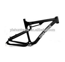 "2014 YISHUNBIKE 26"" dual suspension MTB carbon bike frame super light BSA system carbon mountain bike frame YS-039"