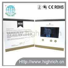 4.3'' lcd video brochure for christmas greetings/invitation card /Holiday gift card