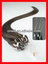 20inch hot sale micro bead hair extension cheap micro ring hair extension double bead brazilian micro ring loop hair extensions