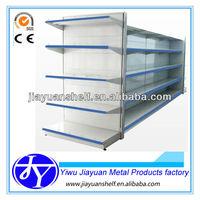 ( plain backpanel)heavy duty metal shelving for supermarket