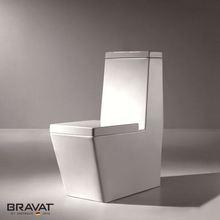 night light one piece toilet P/S-Trap Siphon Flushing