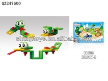 Self-assmbly toys plastic magnetic building blocks of the snake DIY educational toys for children