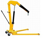2T hydraulic foldable shop crane,