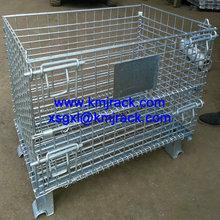 Convenient steel mesh folding storage cage