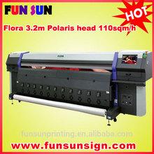 Flora Polaris 15pl head flex banner Solvent Printer (LJ320P, high speed 110sqm/h, 1200dpi )