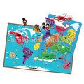 E1010 2014 a estrenar para los niños del niño del bebé juguetes creativos de aprendizaje educativos juegos mapa del mundo del rompecabezas